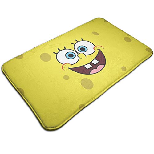 Duwamesva Bath Mat- Spongebob Design, Non Slip Absorbs Soft Rug Carpet for Indoor Outdoor Patio (Bathroom Sponge Rugs Bob For)
