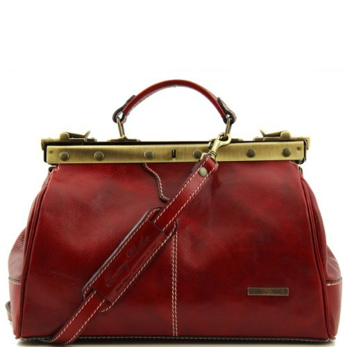 Tuscany Leather Michelangelo Doctor gladstone leather bag Red