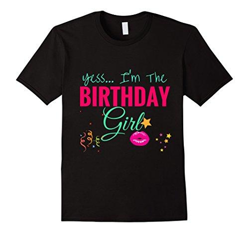 Mens Popular Girly BIRTHDAY GIRL Shirt Women Gift: Too Cute 2XL Black
