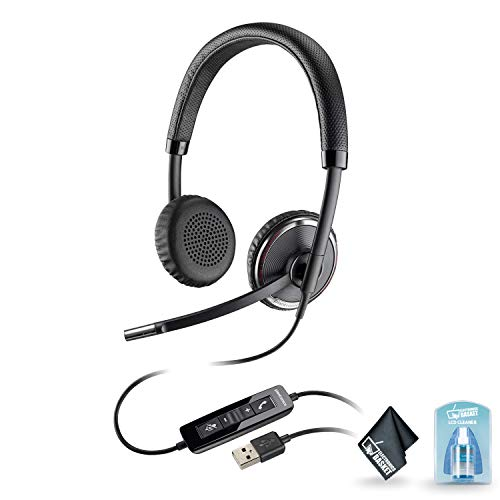 Plantronics Blackwire 500 C520-M USB Binaural Microsoft-Certified Version Headphone with Accessories | Microsoft Skype ()