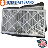 FiltersFast Compatible Replacement for Aprilaire SpaceGard 2400 Air Filter 16'' x 27'' x 6'' (Actual Size: 15 3/8'' x 26 15/16'' x 6'') - MERV 8 2-Pack