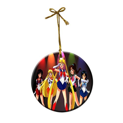 SAILOR MOON Custom Fashion Porcelain Gift Christmas decorations hanging Ornaments