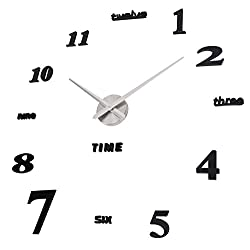 Moonsteps Contemporary Design Frameless DIY Decorative Wall Clock