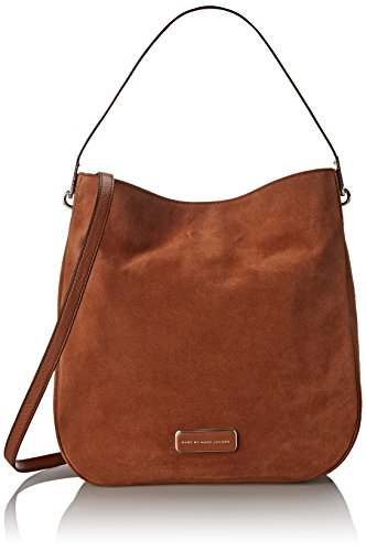 Marc by Marc Jacobs Ligero Sporty Suede Hobo Shoulder Bag Cinnamon Stick One Size