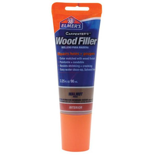 Walnut Hardwood - Elmer's E859 Carpenter's Wood Filler, 3.25-Ounce Tube, Walnut