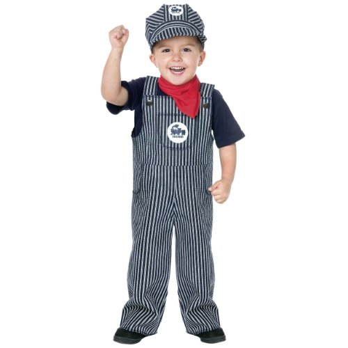 Fun World Boys Train Engineer Toddler Costume, Multi,