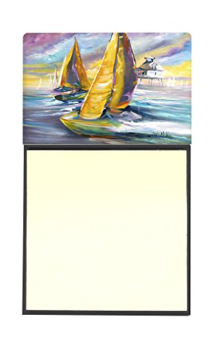 """UPC 615872955077, Caroline's Treasures Sailboat with Middle Bay Lighthouse Sticky Note Holder, 3.25 by 5.5"""", Multicolor"""