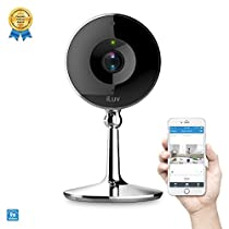 mySight2K by iLuv, Wi-Fi Cloud-Based 2K HD Video Camera for Home and Business Monitoring with 10s Preview, Motion and Noise Detection, Mobile Alerts, Two-Way Audio, Digital Zoom, and Night Vision