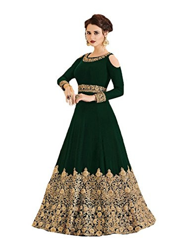 gner Indian Wear & Ethnic Wear Long Gown Salwar Kameez (Green, XL-44) (Green Salwar Kameez)