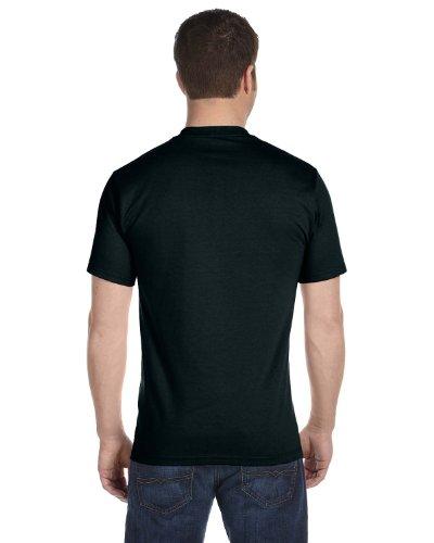 Hanes Men's Tagless ComfortSoft Crewneck T-Shirt 5PK_Black_L (T-shirt Tagless Hanes Crewneck)