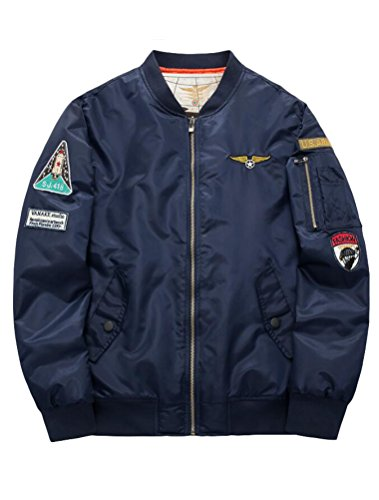 One epais Collier Nasa xl Style1 Americaine Hommes Baseball Col Bomber Armee Manteau Loisirs Design Sports Force Jacket V Style S bleu Pilotes Et Retro Matchlife Air qE8ZSBgwZ