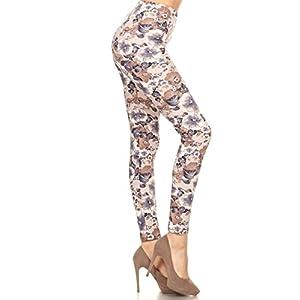 Leggings Depot Women's Buttery Soft Classic Fashion Print Leggings BAT4