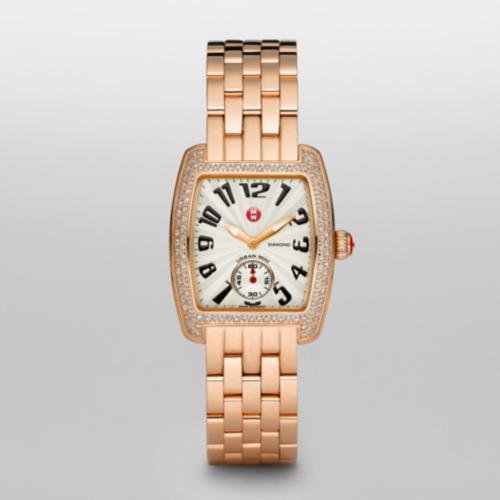 Diamond Mini Watch Urban (MICHELE Urban Mini Diamond Rose Gold Bracelet Watch)