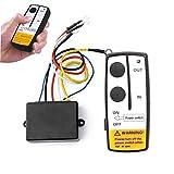 Dwsfada Remote Control Kit Wireless Winch Remote Control Switch Truck ATV Winch Wireless Remote Control(Black)