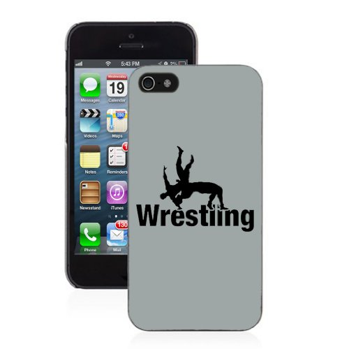Wrestling - iPhone 5/5s Glossy Black Case (Wrestling Iphone 5s Case)
