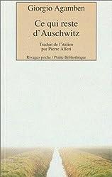 Ce qui reste d'Auschwitz