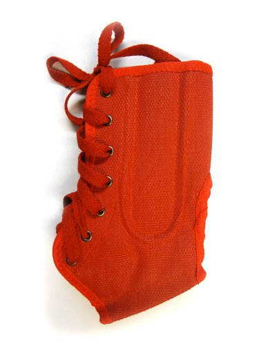 Safe-T-Gard Small Lace Up Ankle Brace (Red)