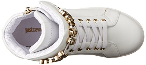 Fashion Off Women's Just White Leather Sneaker Nappa Cavalli IO8qw8