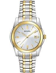 Bulova Mens 98H18 Two-Tone Bracelet Watch