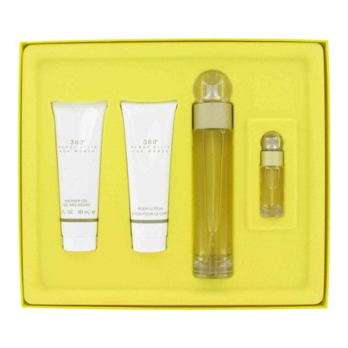 Gift Set — 3.4 oz Eau De Toilette Spray 3 oz Shower Gel 3 oz Body Lotion .25 oz Mini EDT Spray