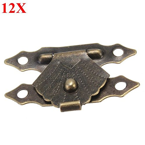 12pcs Antique Decorative Jewelry Gift Wooden Box Hasp Latch Lock With Screw from BephaMart