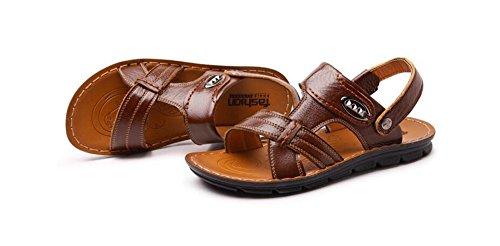 Stifai Läder Sandaler För Män Sommar Strand Motståndskraftigt Sandels Svart