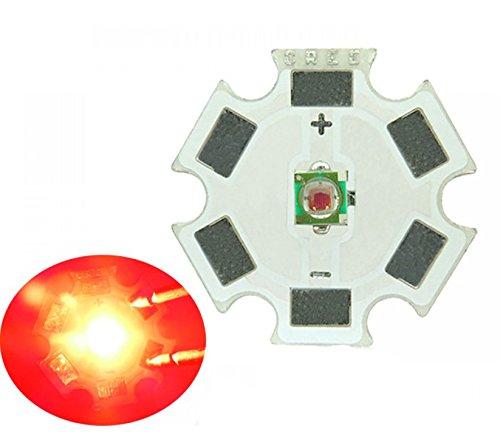 Led World 5pcs 1W/3W Cree XP-E Red Led Emitter Light 620NM - 630NM 62LM On 20MM PCB Board