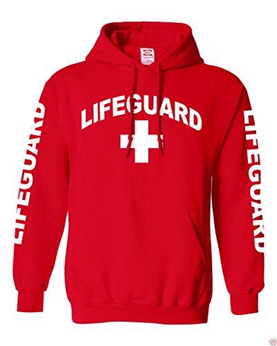 Gs-eagle Men's Lifeguard Pullover Fleece Graphic Hoodie Medium (Graphic Fleece Hoody)