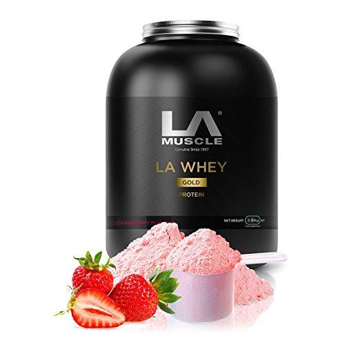 LA Muscle LA Whey Gold Protein (Strawberry (908g))