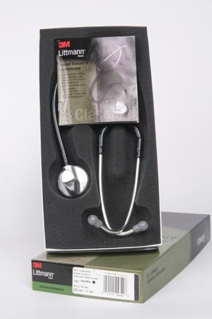 3M Health Care 1392 Master Classic II Vet Stethoscope, Single-Sided Chest Piece, 32'' Navy Tubing