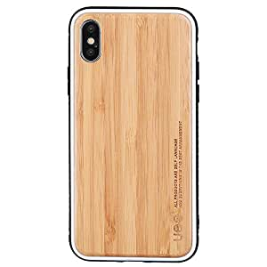 For Apple iPhone X Phone Case TPU Bamboo Wood Anti Scratch Protective Shockproof Back Cover
