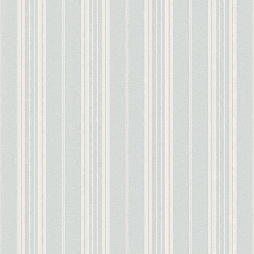 Light Stripe Blue Wallpaper (Chesapeake CCB66315 Country Farmhouse Light Blue Stripe)