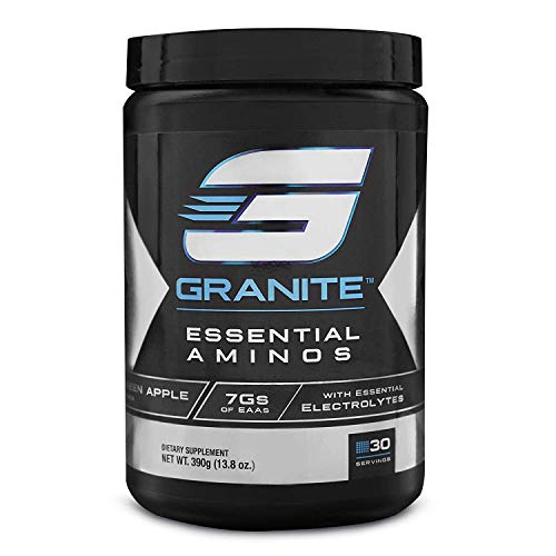 EAA Powder by Granite Supplements 30 Servings of Essential Aminos Green Apple to Promote Muscle Growth, Train Harder, and Recover Faster Includes EAAs, BCAAs, and Electrolytes