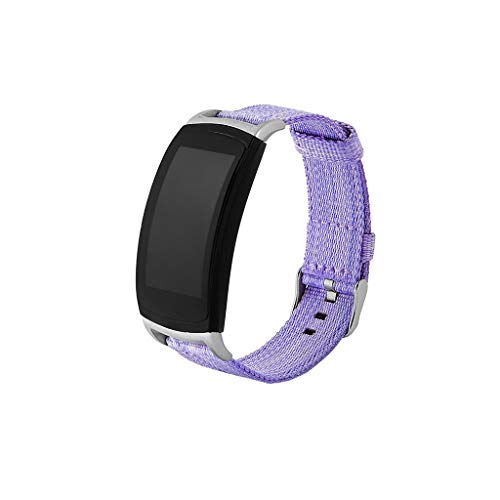Hongxin Replacement Band Strap, Nylon Weave Band Wrist Strap Woven Bracelet Strap Band for Samsung Gear fit2/fit2 pro,Wrist Length:160-210mm (Purple)