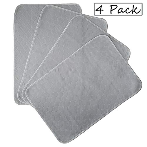 Kluein Pet Training Pads for Dogs   4-Pack Grey   Non-Slip Absorbent   Washable Pads for Dogs Cat Rabbit Guinea Pig…