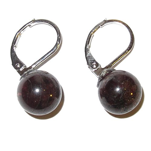 Garnet Earrings 0.8