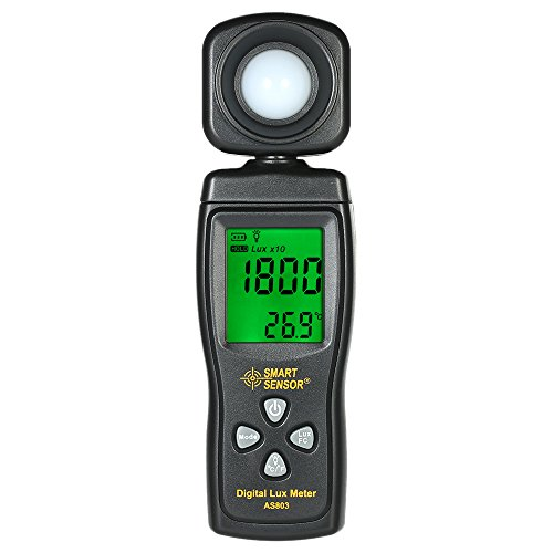 KKmoon SMART SENSOR Mini Digital Lux Meter LCD Display Handheld Illuminometer Luminometer Photometer Luxmeter Light Meter 0-200000 ()