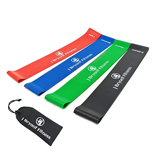 J Bryant Heavy Resistance Bands,Thick Resistance Bands Set,Training Straps Stronger,Workout Your arms, Back, Shoulders, Legs, and Butt Extra Heavy Carry Bag(Set of 4)