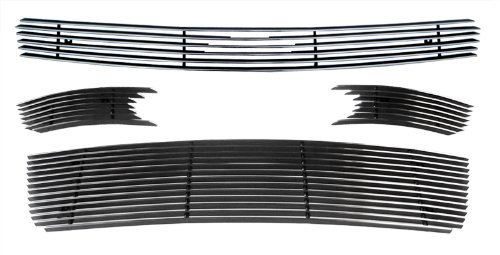 MaxMate Fits 06-13 Chevy Impala LT/LS 06-07 Monte Carlo 4PC Combo Horizontal Billet Polished Aluminum Grille Grill Insert ()