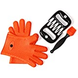 TAILGATE SPECIAL - 3 in 1 Bundle: Meat Shredder Claws   Heavy Duty Silicone Gloves   Silicone Brush - Value pack of Amazon Best Sellers