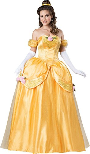 InCharacter Women's Beautiful Princess Costume, Gold, Small (Belle Dress Adult)