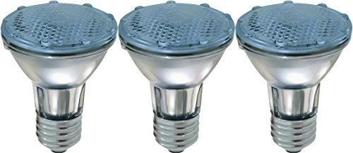 GE Lighting Reveal Halogen 76413 35-Watt, 270-Lumen PAR20 Floodlight Bulb with Medium Base, 3-Pack