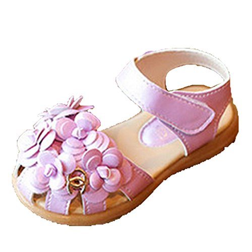 Ohmais Kinder Mädchen flach Freizeit Sandalen Sandaletten Kleinkinder Mädchen Halbschuhe Sandalette Ballerinas lina
