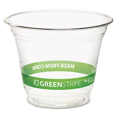 GreenStripe Renewable Resource Cold Drink Cups 9 oz Clr 50/Pack 10 Packs