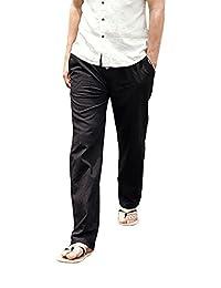 Port&Lotus Men's Linen Casual Pants