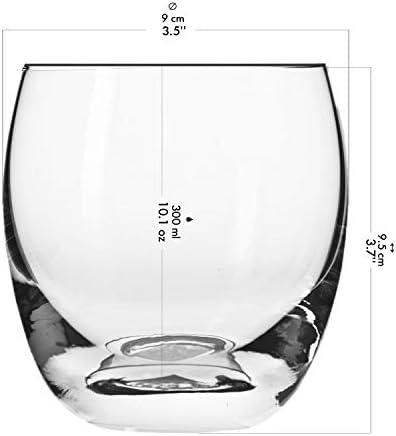 Krosno Vasos Copas de Whisky   Conjunto 6 Piezas   300 ML   Elite Collection Uso en Casa, Restaurante y en Fiestas   Apto para Microondas y Lavavajillas