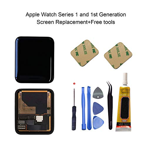 Ogodeal Screen Replacement for Apple Watch Series 1 A1803 and (1st generation) A1554 LCD & Digitizer Touch Screen Assembly 42 MM Sport Version ()