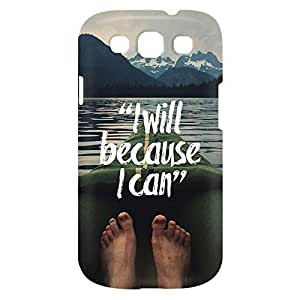Loud Universe Samsung Galaxy S3 I Will Because I Can Print 3D Wrap Around Case - Multi Color