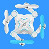 DSstyles Drone Rabing Quadcopter,Mini Foldable Quadcopter UAV Aircraft Remote Control Aircraft Model Blue Wi-Fi Real-time Transmission