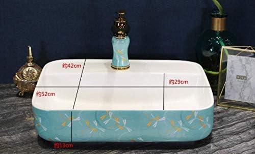 ZKS-KS セラミック洗面台のバスルームのシンクカウンターオーバルグリーン中国の洗面シンクバスルームのシンクボウル